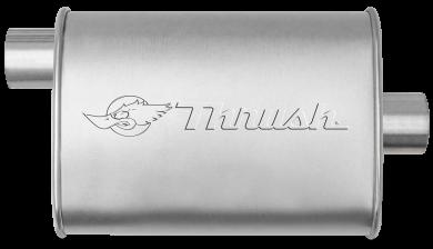 Hush Thrush™ Muffler - Offset / Center - Thrush® Exhaust P/N: 17633