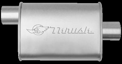 Hush Thrush™ Muffler - Offset / Center - Thrush® Exhaust P/N: 17635
