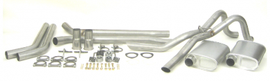 "Dual - 2.5"" Thrush® Turbo Header Back System - Thrush® Turbo Muffler - 89024"