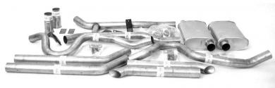 "Dual - 2.5"" Thrush® Turbo Header Back System - Thrush® Turbo Muffler - 89027"