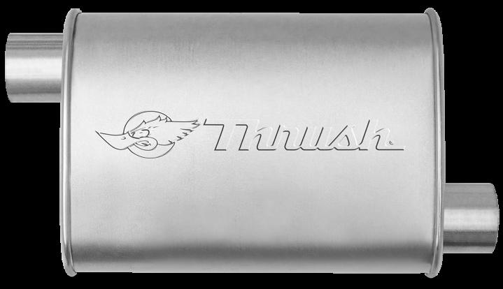 Hush Thrush™ Muffler - Offset / Offset - Thrush® Exhaust P/N: 17634