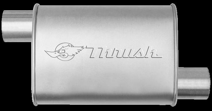 Hush Thrush™ Muffler - Offset / Offset - Thrush® Exhaust P/N: 17636