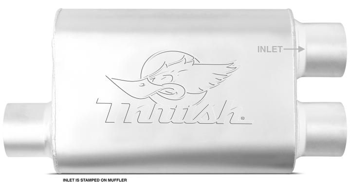 Thrush® Welded Muffler - Offset / Dual Offset - Thrush® Exhaust P/N: 17638