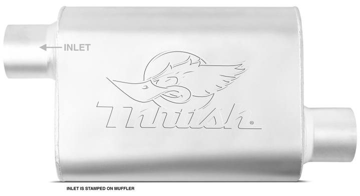 Thrush® Welded Muffler - Offset / Offset - Thrush® Exhaust P/N: 17658