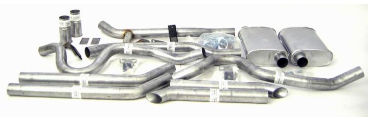 "Dual - 2.5"" Thrush® Turbo Header Back System - Thrush® Turbo Muffler - 89025"