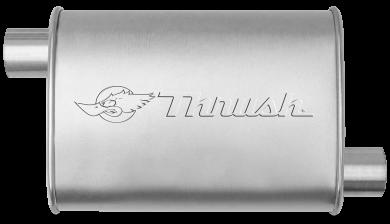 Hush Thrush™ Muffler - Offset / Offset - Thrush® Exhaust P/N: 17632