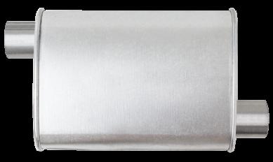 Thrush® Turbo Muffler - Offset / Offset - Thrush® Exhaust P/N: 17696