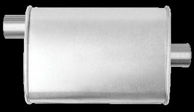 Thrush® Turbo Muffler - Offset / Center - Thrush® Exhaust P/N: 17704